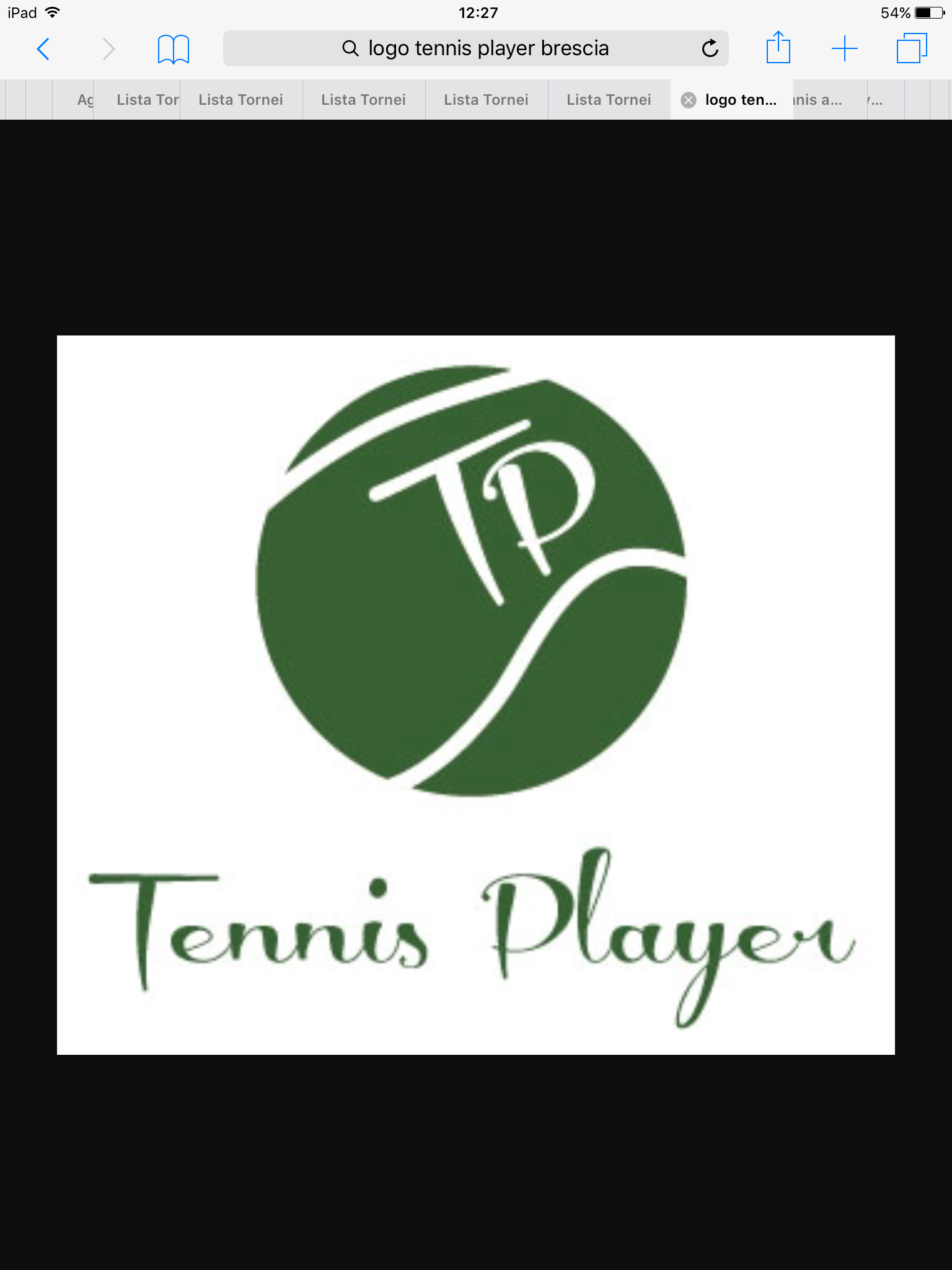 Banner Tennis player